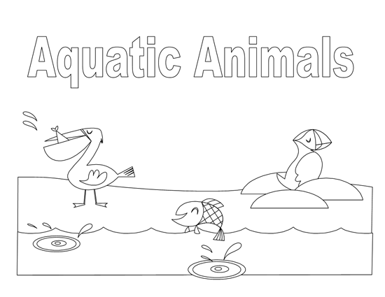 Animals Coloring Book Template