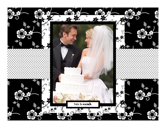 Black & White Wedding Photo Album Template