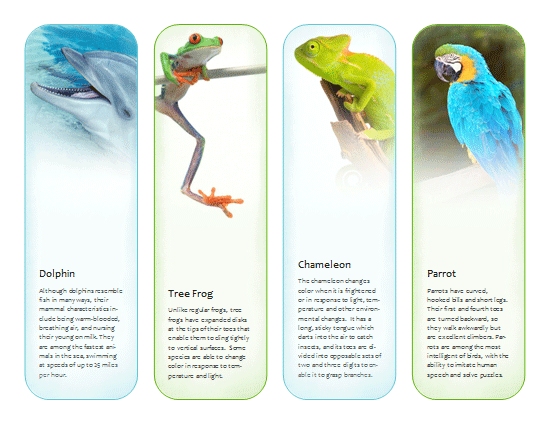 bookmarks  tropical animals  template
