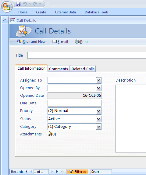 ms office access templates - call tracker template business database templates ms