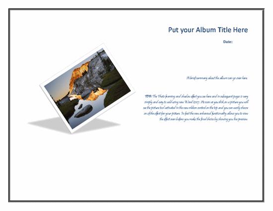 Custom Photo Album Template
