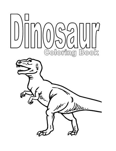 Dinosaur Coloring Book Template | Microsoft Word Template ...