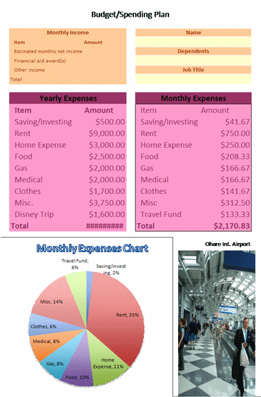 Click Easy-To-Use Business Budget Template Now to download the template.