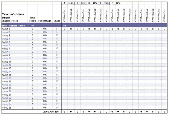 ... Template (High School) - Microsoft Excel Template | MS Excel Templates