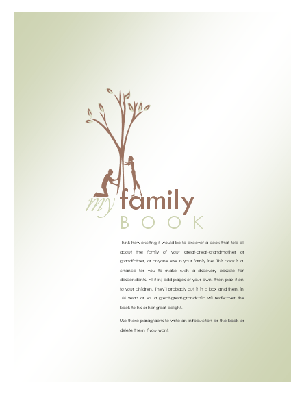 Click Family History Album Template Now to download the template.