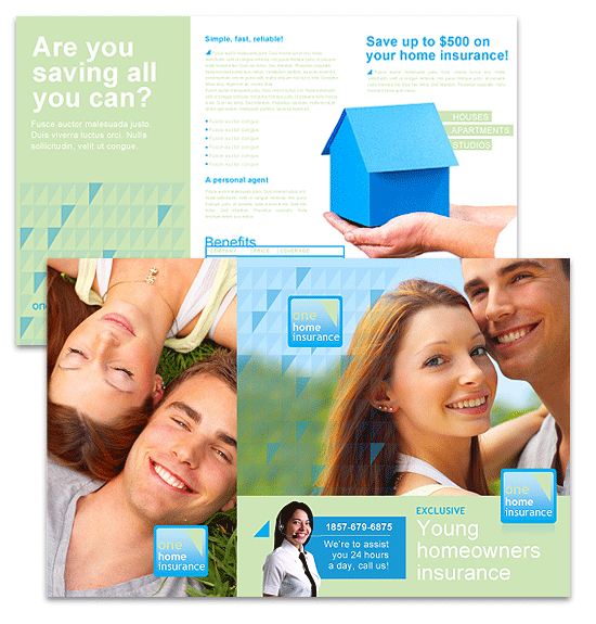 Click Family Insurance Brochure Template to download the template.