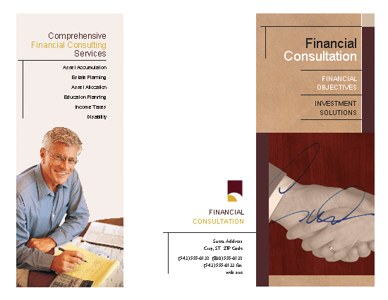 Financial Services Brochure Template
