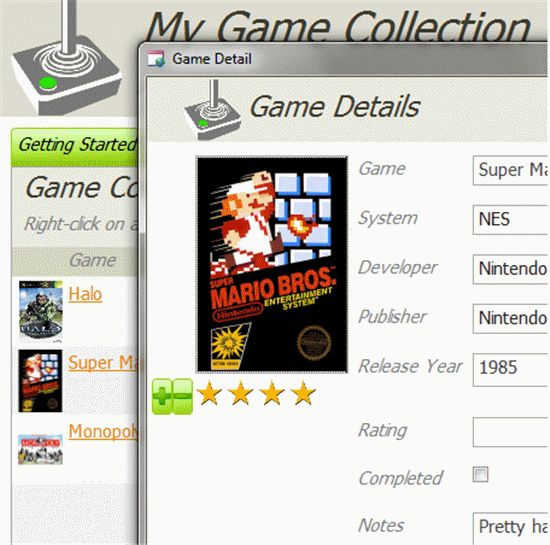 Click Game Collection Database Template Now to download the template.
