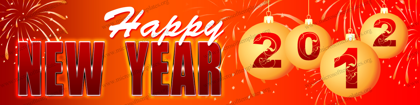 2012 Happy New Year Banner