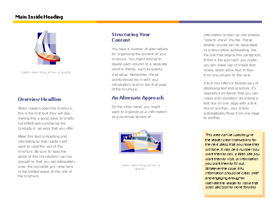 Click Level Business Brochure Template Now to download the template.