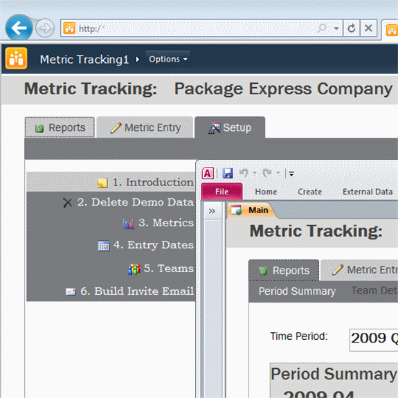Click Metric Tracking Template to download the template.