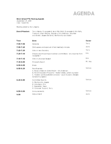 Click Minutes Meeting Sample Agenda Template Now to download the template.