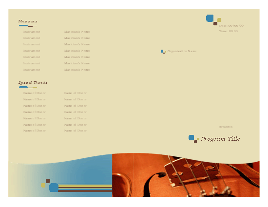 event program template publisher music event program template microsoft publisher