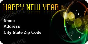 2012 Happy New Year Address Label