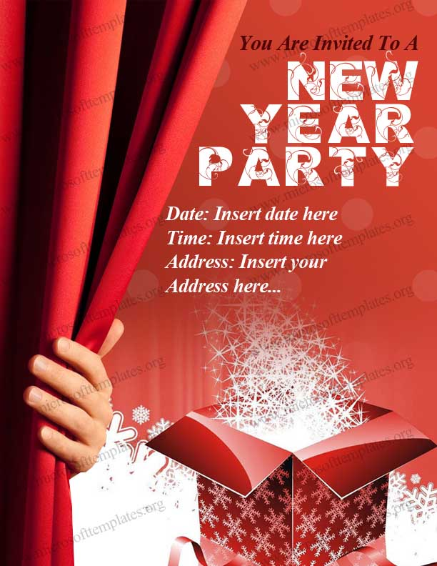 free New Year Party Invitation Template
