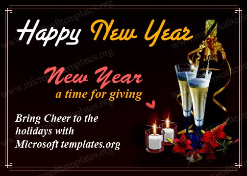 free Happy New Year Postcard Template