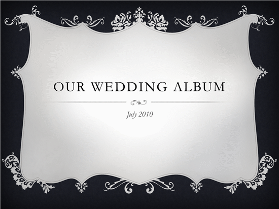 beautiful wedding album template