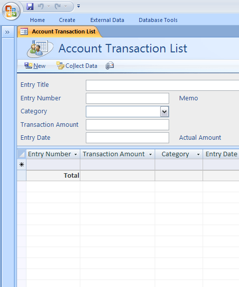 Personal ledger account template free personal database for Microsoft access accounts receivable template database