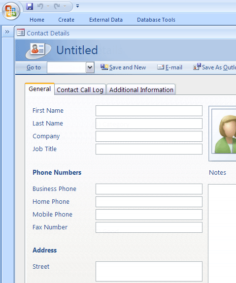 Click Personal Contacts Manager Template Now to download the template.