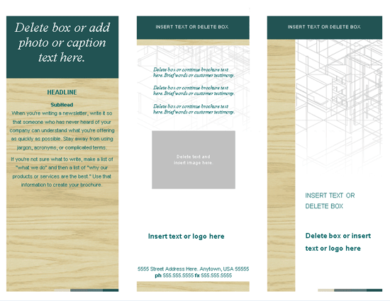 Professional brochure template brochure templates ms for Professional brochure templates free download