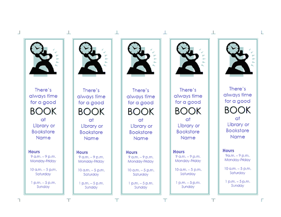 Click Promotional Bookmark Template Now to download the template.