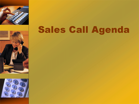 Related Templates Sales call agenda