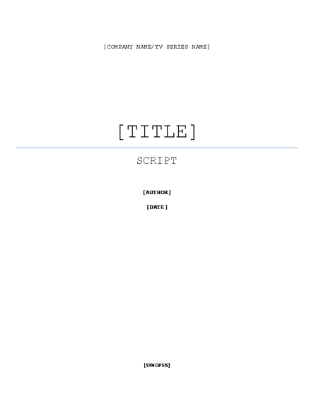 Click Script Writing Template Now to download the template.