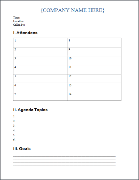 office routing slip template - meeting agenda template word templates