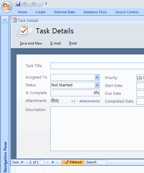 Task Management Database Template