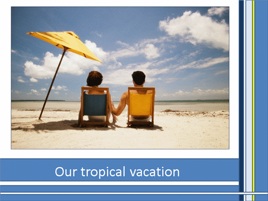 Tropical Vacation Photo Album template