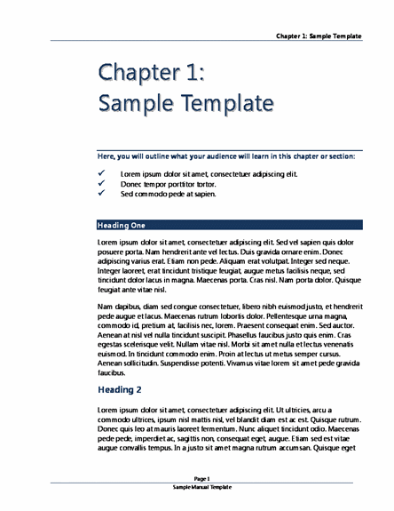 Word templates word templates for Instructional manual template