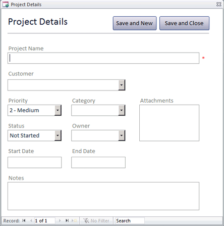 Click Web Projects Manager Template to download the template.
