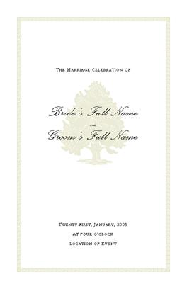 Wedding Program Designs