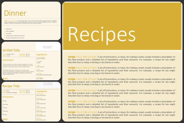 Free Cookbook Template