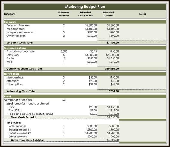 Printable Budget Planner