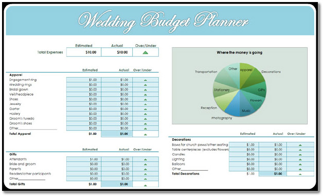 Printable Wedding Planner Template | MS Office Templates