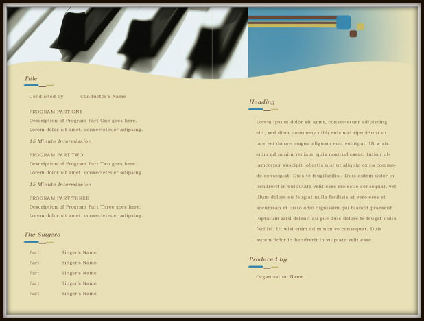 Download Music Program Template