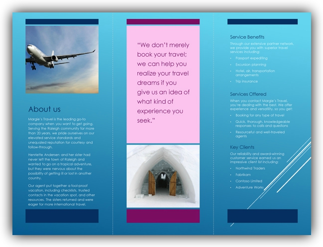 Tri fold brochure template word ms office templates for Microsoft tri fold brochure template free