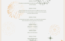 New Year Party Menu Template