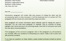 Letter of Transmittal Example
