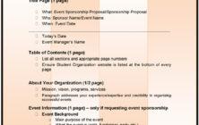 Sponsorship Proposal Format